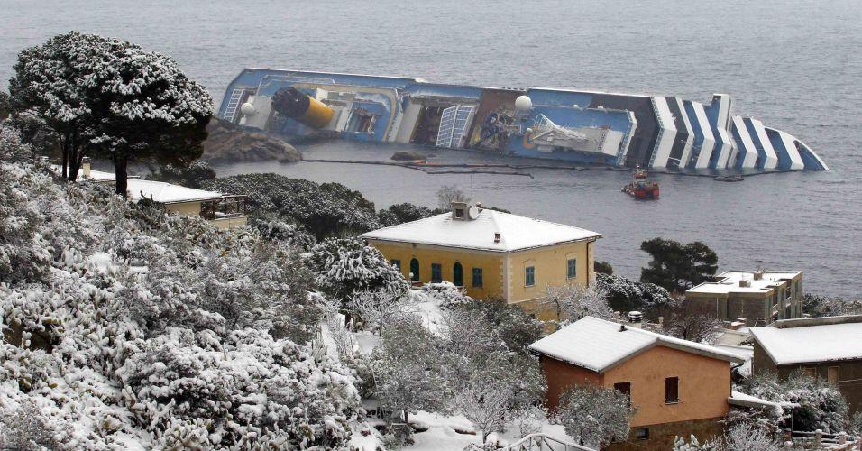 Neve na ilha de Giglio