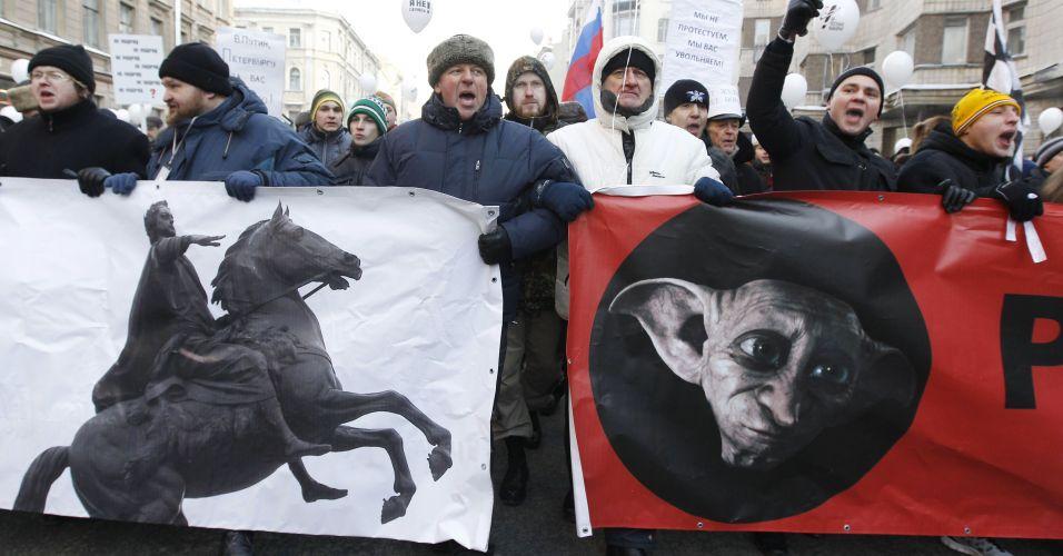 Manifestações na Rússia