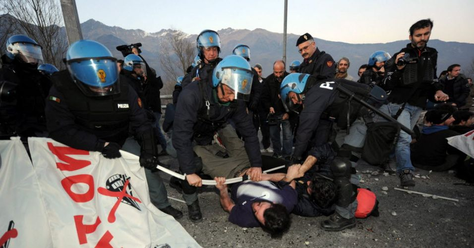 Protesto na Itália