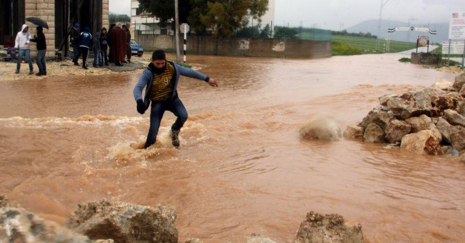 Chuvas na Cisjordânia