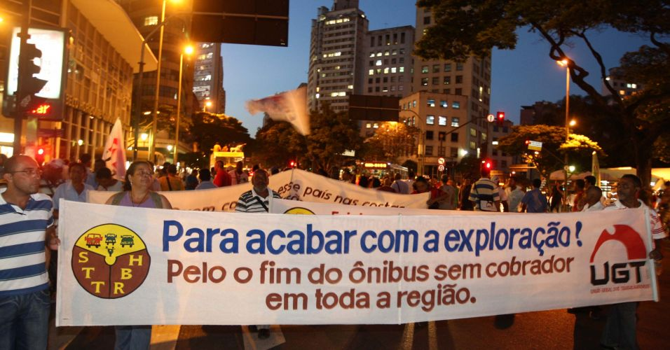 Protesto em Minas Gerais