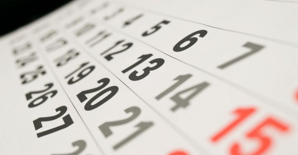Calendário, prazo, meta, emprego