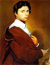 Reprodução - Auto-retrato de Ingres, pintado em 1804