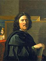 Na França Nicolas Poussin (auto-retrato) é um mito nacional