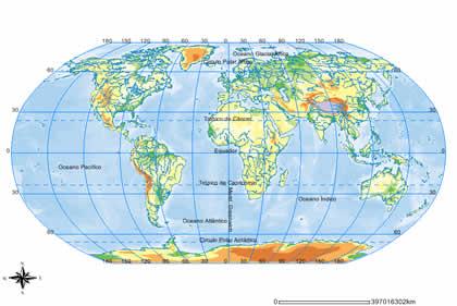 Meridianos e paralelos: Linha do Equador e os trópicos - UOL