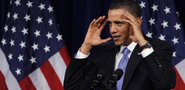 Obama em discurso na Casa Branca, sede oficial do governo dos Estados Unidos