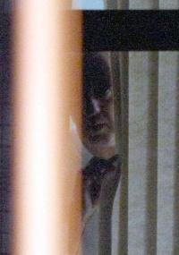 José Roberto Arruda, na janela do prédio da Superintendência de Polícia Federal, em Brasilia