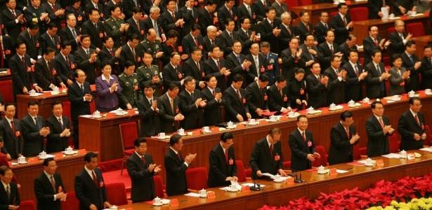 Encerramento do 17º Congresso do Partido Comunista chinês, no Grande Palácio do Povo