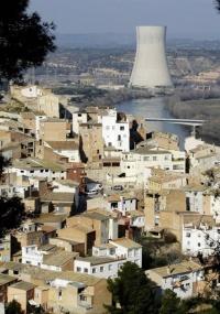 Vista da planta nuclear na cidade de Asco, na Catalunha, Espanha
