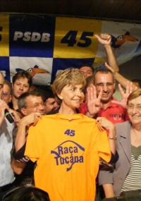 Cerca de 500 militantes tucanos estiveram no encontro estadual do partido para apoiar a controvertida pré-candidatura de Yeda