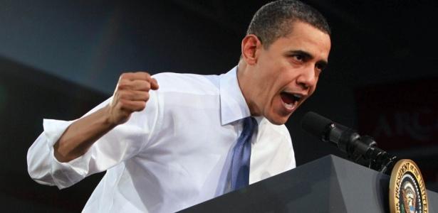 O presidente dos Estados Unidos, Barack Obama, durante palestra sobre a reforma da Saúde