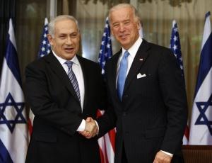 O vice-presidente dos EUA, Joe Biden, durante encontro com o primeiro-ministro de Israel, Benjamin Netanyahu, durante visita oficial do representante americano ao país, na último dia 09/03