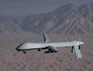 Avião militar não tripulado dos fabricado e usado na segurança dos Estados Unidos