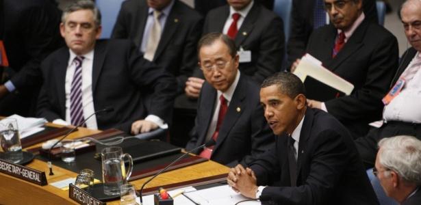 O presidente norte-americano Barack Obama discursa em reunião do Conselho de Segurança da ONU (Organização das Nações Unidas)