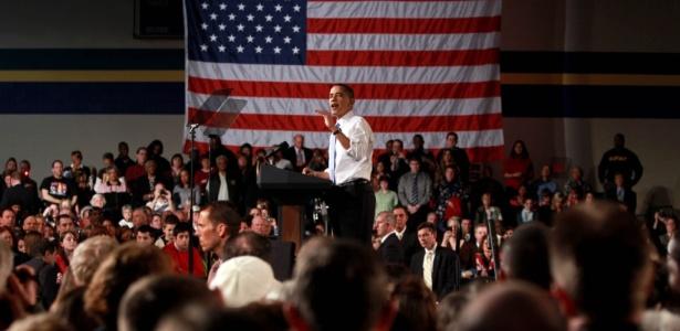 Obama defende reforma da saúde em discurso em Strongsville, Ohio (EUA), em 15 de março