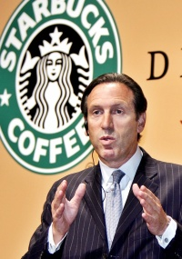 Howard Schultz, fundador e executivo-chefe da Starbucks