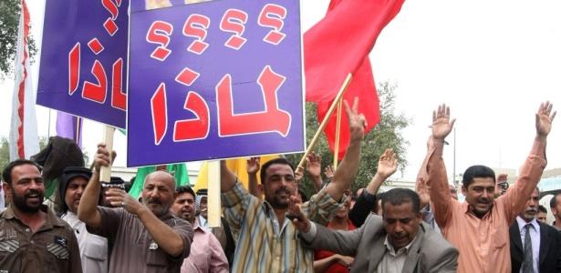 Iraquianos protestam contra resultado das eleições