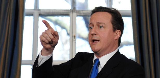 David Cameron, líder dos conservadores britânicos, quer ocupar o cargo de Gordon Brown