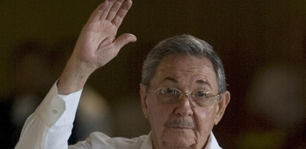 O presidente cubano, Raúl Castro, em evento na capital da ilha, Havana