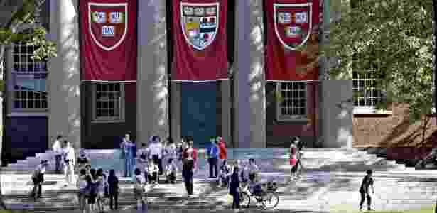 Fachada de um dos prédios do campus da Universidade Harvard, nos Estados Unidos - Michael Fein/Bloomberg