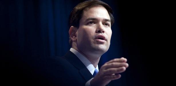 O candidato republicano ao Senado pela Fórida, Marco Rubio, durante a conferência de ação política conservadora, em Washington, promovida pelo partido republicano