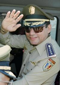 O ex-ditador panamenho Manuel Antonio Noriega em 1989