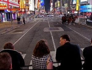 Times Square, em Nova York, após ameaça carro-bomba no último sábado