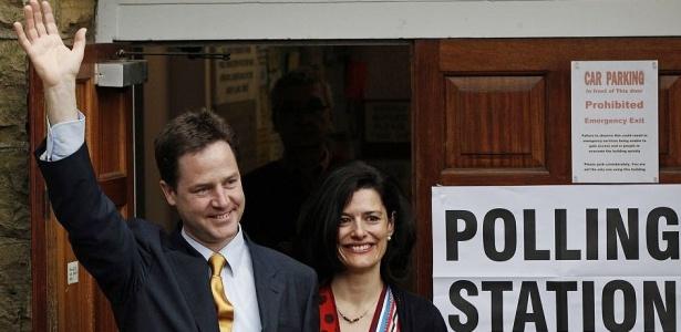 Partido Liberal-Democrata, de Nick Clegg, ficou em terceiro lugar nas eleições britânicas