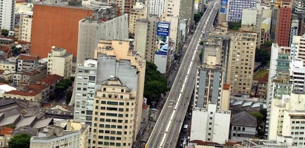 """O elevado Costa e Silva, popular """"Minhocão"""", que poderá ser demolido; veja mais imagens"""