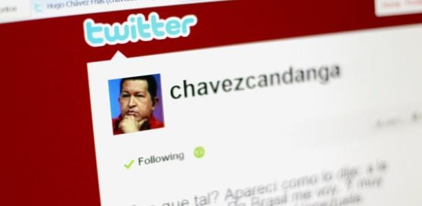 Página do presidente Hugo Chávez no Twitter é a mais seguida da Venezuela