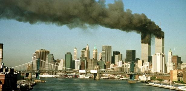 Torres Gêmeas do World Trade Center de Nova York em 11 de Setembro de 2001