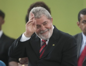O presidente Luiz Inácio Lula da Silva visto durante a inauguração da quadra Jamelão, na vila olímpica da Mangueira, no Rio de Janeiro