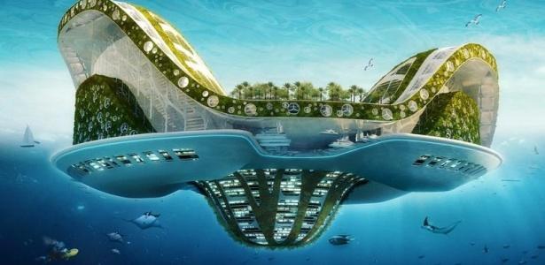 Arquiteto Vincent Callebaut imagina ilha flutuante para refugiados do aquecimento global