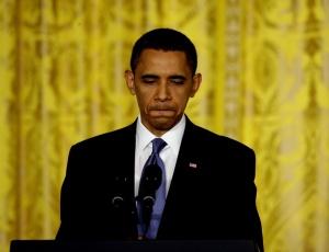 O presidente dos EUA, Barack Obama, durante coletiva de imprensa no último dia 27 na Casa <br>Branca, sede do governo dos Estados Unidos