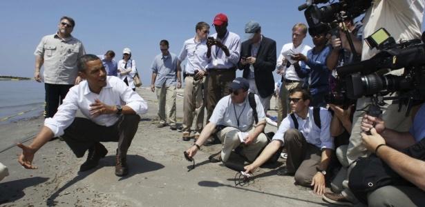 Presidente Barack Obama visita costa da Louisiana (EUA), afetada por vazamento de petróleo