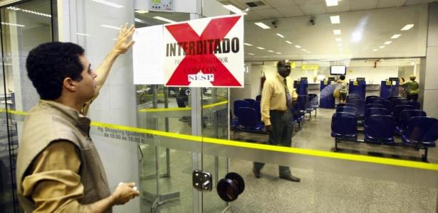 Blitz interditou a agência do Banco do Brasil do Shopping Iguatemi, em Salvador