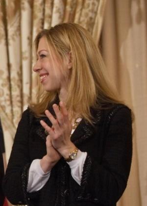 Chelsea Clinton, filha do ex-presidente dos EUA Bill Clinton - 2.fev.2009 - Nicholas Kamm/AFP