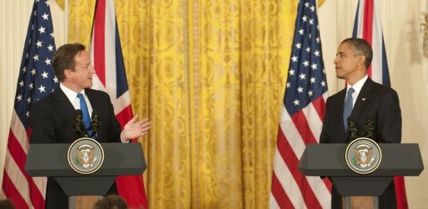 Presidente dos EUA, Barack Obama, recebe em Washington o premiê do Reino Unido, David Cameron