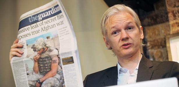 Australiano Julian Assange, fundador do site Wikileaks, após divulgar documentos secretos do Afeganistão