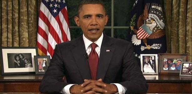 No salão oval da Casa Branca, Obama anunciou o fim da guerra do Iraque