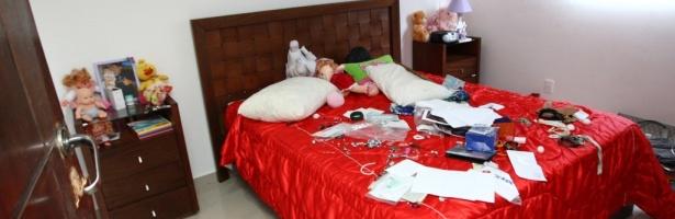 Foto de dormitório do interior do goleiro Bruno, em Minas Gerais