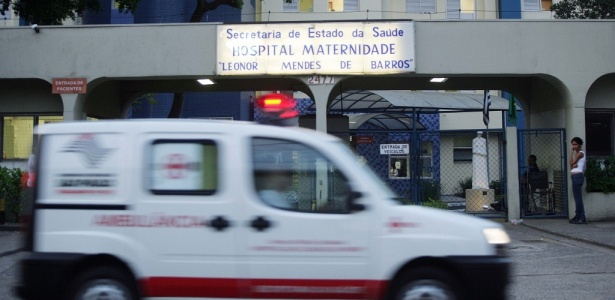 Fachada da maternidade Leonor Mendes de Barros, na zona leste de São Paulo
