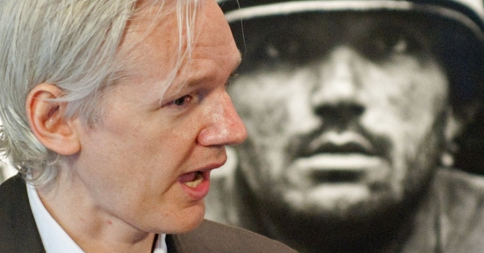 Julian Assange, fundador e editor do site australiano WikiLeaks