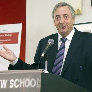 Kirchner fala para estudantes e professores do departamento de Política Latino-americana em Nova York, em 27 de setembro de 2010