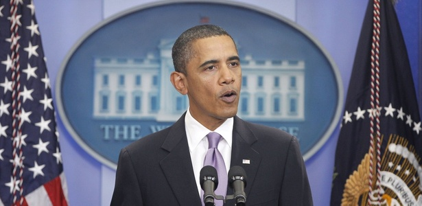 Presidente Barack Obama, em entrevista coletiva na semana passada