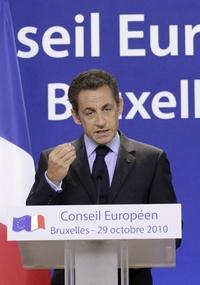 Nicolas Sarkozy discursou em Bruxelas, na Bélgica, e disse que não aceitará ameaças terroristas