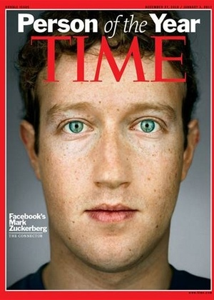 Mark Zuckerberg, criador do Facebook, é eleito personalidade do ano de 2010 pela revista Time