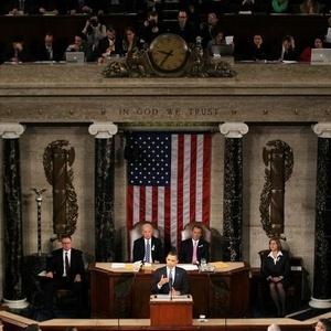 """Barack Obama anunciou viagem ao Brasil durante o discurso """"O Estado da Nação"""" desta terça-feira (25) - Jim Watso/AFP"""