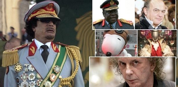 Estilo Gaddafi mistura Lacroix e Snoopy, segundo revista