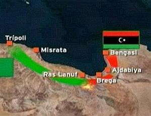 Rebeldes líbios avançam rumo ao petroleiro de Ras Lanuf